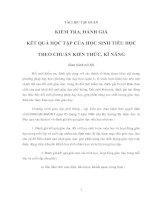 Tài liệu TÀI LIỆU TẬP HUẤN KIỂM TRA, ĐÁNH GIÁ KẾT QUẢ HỌC TẬP CỦA HỌC SINH TIỂU HỌC THEO CHUẨN KIẾN THỨC, KĨ NĂNG docx
