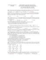 60 câu hỏi trắc nghiệm thi học sinh giỏi môn sinh 12 ( có đáp án)