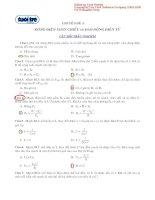 Tài liệu Bài giải chuyên đề 3: dòng điện xoay chiều và dao động điện từ (Câu hỏi trắc nghiệm) ppt