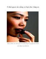 Tài liệu 5 thói quen ăn uống có hại cho vòng eo pdf