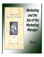 Tài liệu Giáo trình: Marketing Management_ Chapter 01 pdf
