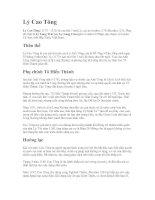 Tài liệu Lý Cao Tông doc