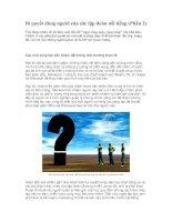 Tài liệu Bí quyết dùng người của các tập đoàn nổi tiếng (Phần 2) doc