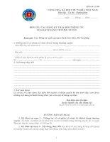 Tài liệu Mẫu số 11 BD: Đơn yêu cầu đăng ký thay đổi thông tin về khách hàng thường xuyên docx