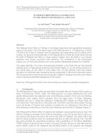 Tài liệu Water environmental governance in the Mekong delta, Vietnam ppt