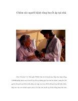 Tài liệu Chăm sóc người bệnh tăng huyết áp tại nhà pptx