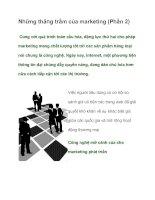 Tài liệu Những thăng trầm của marketing (Phần 2) pdf