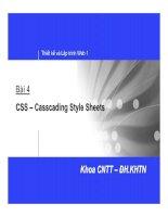 WebCourse   bai04 CSS CasscadingStyle Sheets
