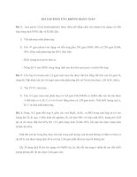 Tài liệu BÀI TẬP PHẢN ỨNG KHÔNG HOÀN TOÀN pptx