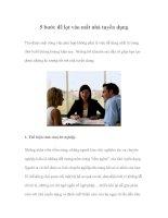 Tài liệu 5 bước để lọt vào mắt nhà tuyển dụng pptx