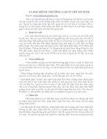 Tài liệu 5 LOẠI BỆNH THƯỜNG GẶP Ở TRẺ SƠ SINH pdf