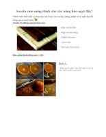 Tài liệu Socola cam nóng dành cho các nàng hảo ngọt đây! doc