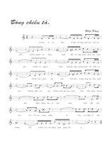 Tài liệu Bài hát bóng chiều tà - Nhật Bằng (lời bài hát có nốt) pptx