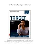 Tài liệu Cốt lõi và vẻ đẹp tiếp thị từ Target docx