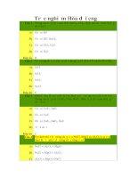 Tài liệu Trắc nghiệm hóa đại cương (kèm đáp án) pdf