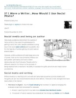 if i were a writer how would i use social media