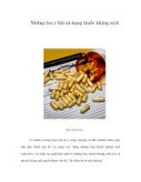 Tài liệu Những lưu ý khi sử dụng thuốc kháng acid docx