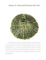 Tài liệu Quảng cáo: không nhất thiết phải nhiều tiền! pptx