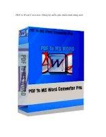 Tài liệu PDF to Word Converter: Đăng ký miễn phí, nhiều tính năng mới ppt