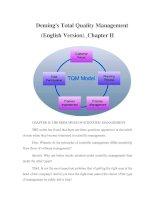 Tài liệu Deming''''s Total Quality Management (English Version)_Chapter II pptx