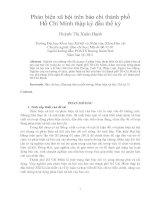 Phản biện xã hội trên báo chí thành phố hồ chí minh thập kỷ đầu thế kỷ