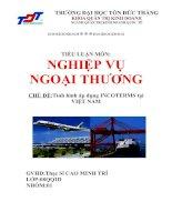 Tài liệu Tiểu luận: Tình hình áp dụng INCOTERMS tại Việt Nam docx
