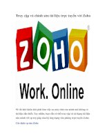 Tài liệu Truy cập và chỉnh sửa tài liệu trực tuyến với Zoho pdf