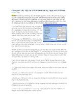 Tài liệu Đóng gói các tập tin PDF thành file tự chạy với Pdf2exe docx