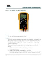Tài liệu Lab 3.1.1 Safe Handling and Use of a Multimeter doc