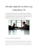 Tài liệu Dấu hiệu nhận biết sự thành công trong phỏng vấn pdf