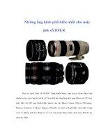 Tài liệu Những ống kính phổ biến nhất cho máy ánh số DSLR doc