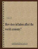 Slide bài giảng tiếng anh chuyên ngành kinh tế unit 22 how does inflation affect the world economy