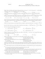 Tài liệu Đề thi trắc nghiệm Vật lí 7 pdf