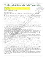Tài liệu Bài dự thi tìm hiểu luật thanh niên ppt