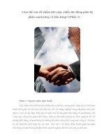 Tài liệu Làm thế nào để chấm dứt cuộc chiến dai dẳng giữa bộ phận marketing và bán hàng? (Phần 1) docx