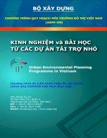 Tài liệu Chương trình quy hoạch môi trường đô thị Việt Nam doc
