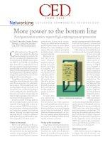 Tài liệu More power to the bottom line pptx