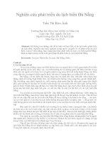 Nghiên cứu phát triển du lịch biển đà nẵng