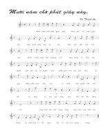 Tài liệu Bài hát mười năm chờ phút giây này - Vũ Thành An (lời bài hát có nốt) pdf