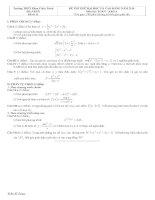 Tài liệu Đề và đáp án luyện thi đại học 2010 khối A-B-C-D đề 11 pdf