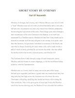 Tài liệu LUYỆN ĐỌC TIẾNG ANH QUA TÁC PHẨM VĂN HỌC-SHORT STORY BY O'HENRY Out Of Nazareth doc