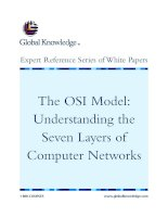 Tài liệu The OSI Model: Understanding the Seven Layers of Computer Networks ppt