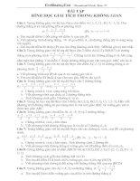 Tài liệu Bài tập hình học giải tích trong không gian ppt