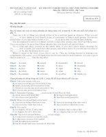 Tài liệu BỘ GIÁO DỤC VÀ ĐÀO TẠO ĐỀ THI CHÍNH THỨC - KỲ THI TỐT NGHIỆP TRUNG HỌC PHỔ THÔNG NĂM 2008 Môn thi: TIẾNG ANH - Hệ 7 năm Mã đề thi :857 doc