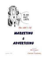 Tài liệu The ABC''''s of Marketing & Advertising doc