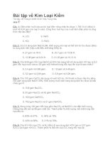 Tài liệu Bài tập về Kim Loại Kiềm doc