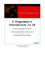 Tài liệu A Programmer''''s Introduction to C# ppt