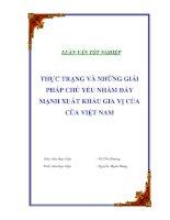 """Tài liệu Luận văn tốt nghiệp """"Thực trạng và những giải pháp chủ yếu nhằm đẩy mạnh xuất khẩu gia vị của của Việt Nam"""" docx"""