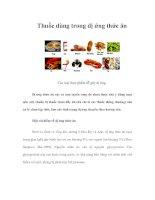 Tài liệu Thuốc dùng trong dị ứng thức ăn doc