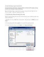 Tài liệu 10 cách phục hồi file Excel docx